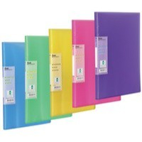 Pentel Recycology Display Book Vivid 30-Pocket Assorted Pk 5 With Free Pad and Pens DCF343/PAD