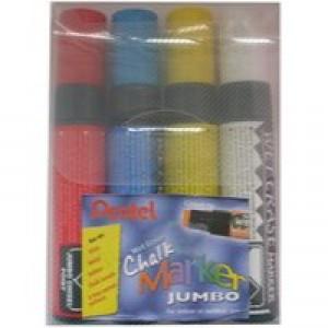 Pentel Jumbo Chalk Marker Chisel Tip Pack of 4 Assorted SMW56/4-BCGW