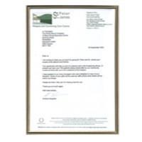 Image for Photo Album Company Certificate Frame Metal A4 Black/Gold PACFA4B
