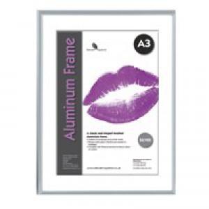 Photo Album Company Certificate Frame Brushed Aluminium A3 PAAFA3B