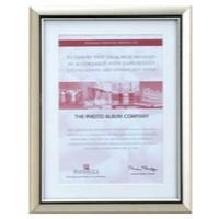 Photo Album Company Premium Certificate Frame with A4 Mount Silver PEL1216