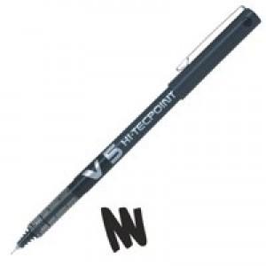 Pilot V5 Hi-Tecpoint Ultra Rollerball Pen 0.3mm Line Black BXV501