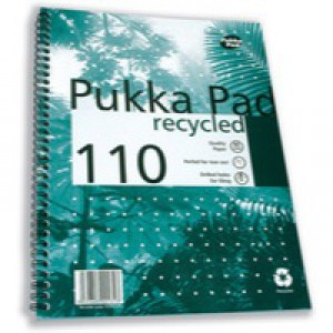 Pukka Pad Quality Recycled A4 Pad 80gsm 100 Pages RCA4100