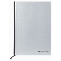 Pukka Pad Ruled Casebound Book A4 Silver/Black 190 Pages Ruled Feint and Margin RULA4