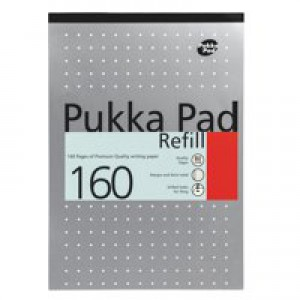Pukka Pad A4 Refill Pad Punched 4-Hole 80 Leaf Ruled Feint and Margin White 80/1
