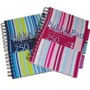 Pukka Pad A5 Project Book Hardback 250 Pages Ruled Feint CBPROBA5