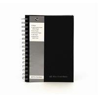 Pukka Pad A5 Wirebound Manuscript Book Black 160 Pages Ruled Feint and Margin SBWRULA5