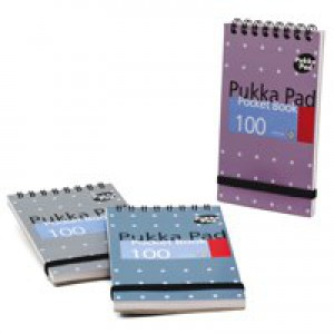 Pukka A7 Metallic  Pocket Notebook Pk 6