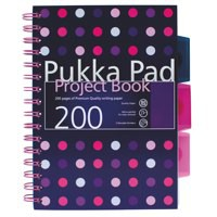 Pukka Pad A5 Project Book Polka Dot Assorted