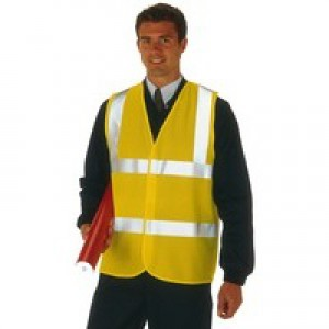 High Visibility 2-Band Waistcoat Yellow Medium