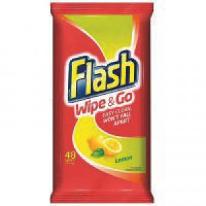 Flash Wipe & Go Lemon Wipes Pk 40 5410076791750