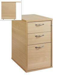 800mm Desk High 3 Drawer Pedestal Oak