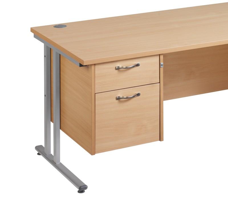 Maestro 25 2 drawer fixed pedestal - beech