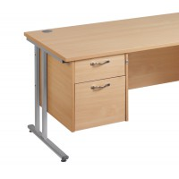 Image for 2 Drawer Fixed Pedestal - Maple