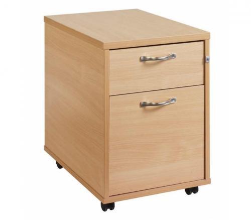 2 Drawer Mobile Pedestal - Beech