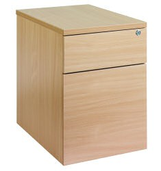 2 Drawer Mobile pedestal - silver handle