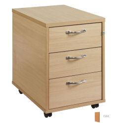 3 Drawer Mobile pedestal - silver handle