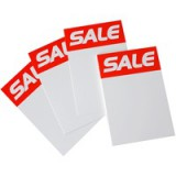 RDI Sale Ticket 6x4 inch Red White Pack of 16 ST6