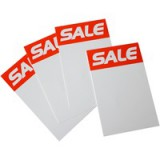 RDI Sale Ticket 8x5 inch Red White Pack of 8 ST8