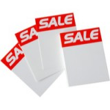 RDI Sale Ticket 4x3 inch Red White Pack of 30 ST4