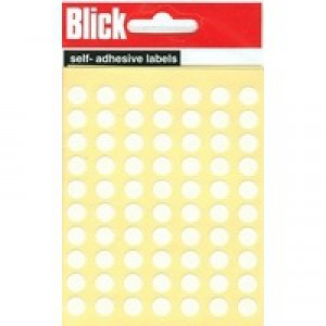 Blick Label Bag 8mm White Pack of 490 RS000853