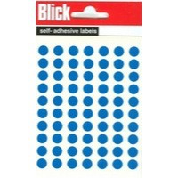 Blick Label Bag 8mm Blue Pack of 490 5
