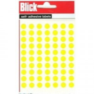 Blick Label Bag 8mm Yellow Pack of 490 RS003458