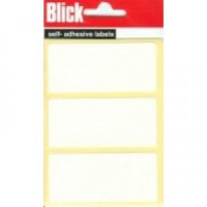 Blick Label Bag 34x75mm White Pack of 21 RS003755