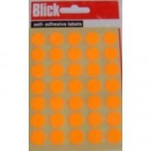 Blick Label Fluorescent Bag 13mm Orange Pack of 140 RS004356