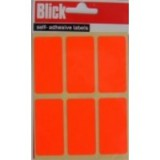 Blick Label Fluorescent Bag 25x50mm Red 4