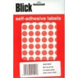 Blick Colour Label Flat Pack 13mm Red Pack of 2240 RS015956