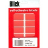 Blick Colour Label Flat Pack 25x50mm Red Pack of 320 RS019954