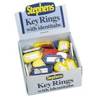 Stephens Identitab Keyring 30mm With Tags Pack 10 Code
