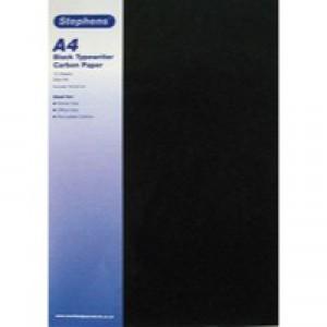 Stephens Typewriter Carbon Paper Black 40gm Pack of 10x10 RS520153