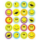 West Design Smiley Face Stickers 20 A4 Sheets Poly Bagged Pk 12 1