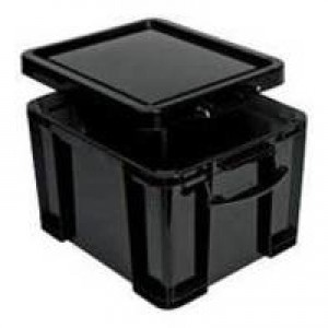Really Useful 64 Litre Recycled Box Black 64BKR