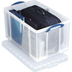 Really Useful 84 Litre Box with Lid Clear 710x440x380mm