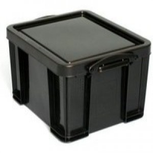 Really Useful 35 Litre Recycled Box Black 35BKR