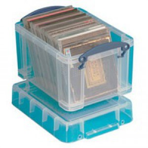 Really Useful 3 Litre Box with Lid Clear 245x180x160mm