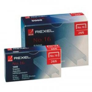 Rexel 16 Staples 6mm Ref 06010 [Pack 5000]