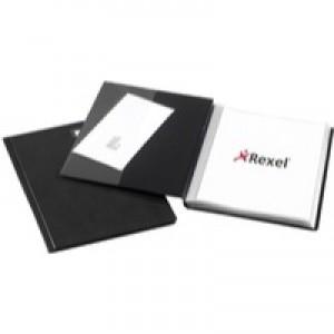 Rexel Nyrex Slimview Display Book A4 Black 50 Pocket 10048BK