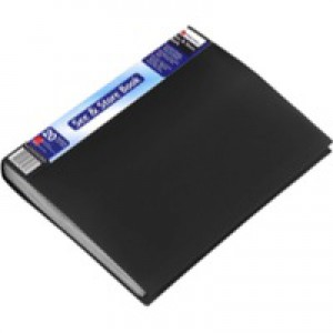 Rexel See & Store Display Book 20 Pocket Black A4 Code 10555BK