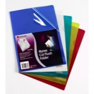 Rexel Nyrex Cut Flush Folder A4 PVC Yellow Pack of 25 CA4C 12161YE
