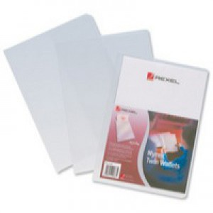 Rexel Nyrex Twin Wallet Clear Pack of 25 PTGWA4 12195