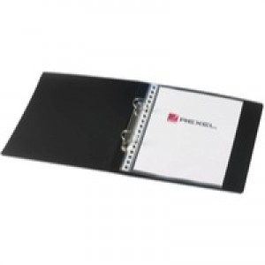 Rexel Budget 2-Ring Binder A5 25mm Polypropylene Black 13428BK
