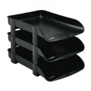 Rexel Agenda2 In/Out Tray 55mm Charcoal 2101016