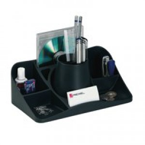 Rexel Agenda2 Desk Tidy W286xD153xH92mm Charcoal Ref 2101028