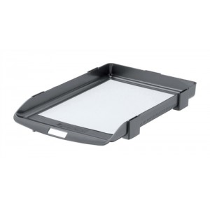 Rexel Agenda 35 Letter Tray Charcoal 25200