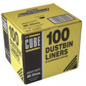 Le Cube Dustbin Liner Dispenser Pack of 100 0483