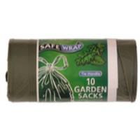Safewrap Tie-Handle Garden Refuse Sack 10 per Roll Pack of 4 0464